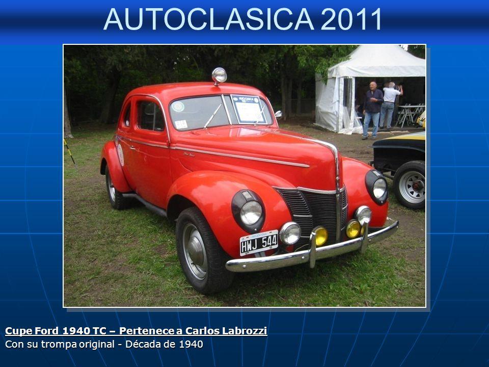 AUTOCLASICA 2011 FORD 39 – PEDRO RUBINETTI Participante de La Buenos Aires - Caracas 2009 / Veterano del T.C.