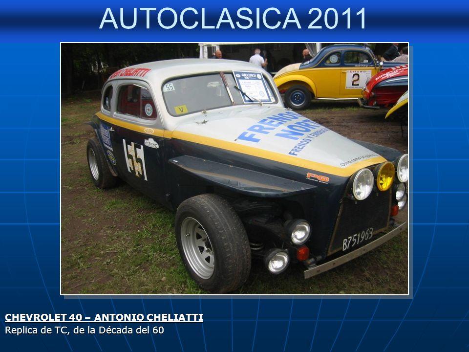AUTOCLASICA 2011 CHEVROLET 40 – EUSEBIO MARCILLA – (Actualmente de su Sobrino, Edmundo Mansilla) 2º Premio en la Muestra Autoclasica 2011, a la cupe m