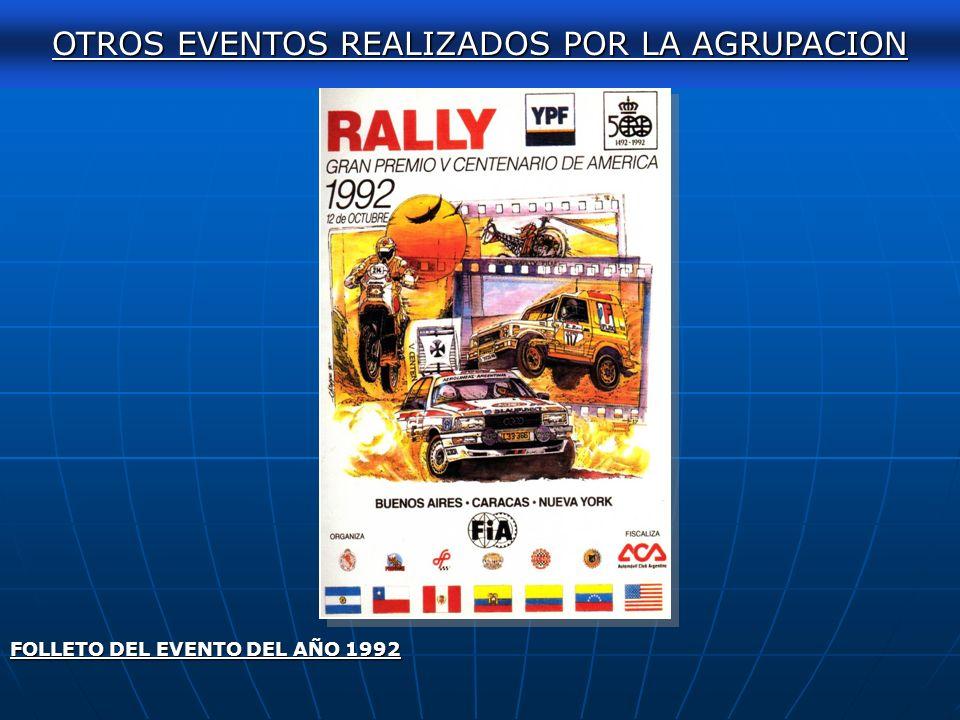 AUTOCLASICA 2011 FOLLETO DEL EVENTO DEL AÑO 1988. OTROS EVENTOS REALIZADOS POR LA AGRUPACION