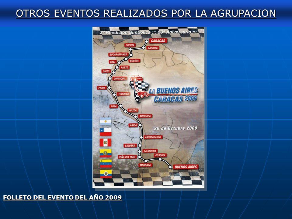 AUTOCLASICA 2011 FOLLETO DEL EVENTO DEL AÑO 1992 OTROS EVENTOS REALIZADOS POR LA AGRUPACION