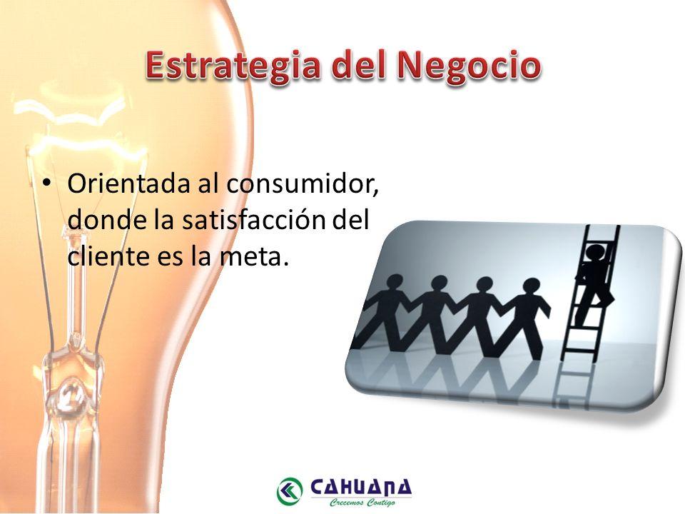 Orientada al consumidor, donde la satisfacción del cliente es la meta.