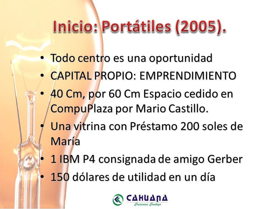 Todo centro es una oportunidad Todo centro es una oportunidad CAPITAL PROPIO: EMPRENDIMIENTO CAPITAL PROPIO: EMPRENDIMIENTO 40 Cm, por 60 Cm Espacio cedido en CompuPlaza por Mario Castillo.
