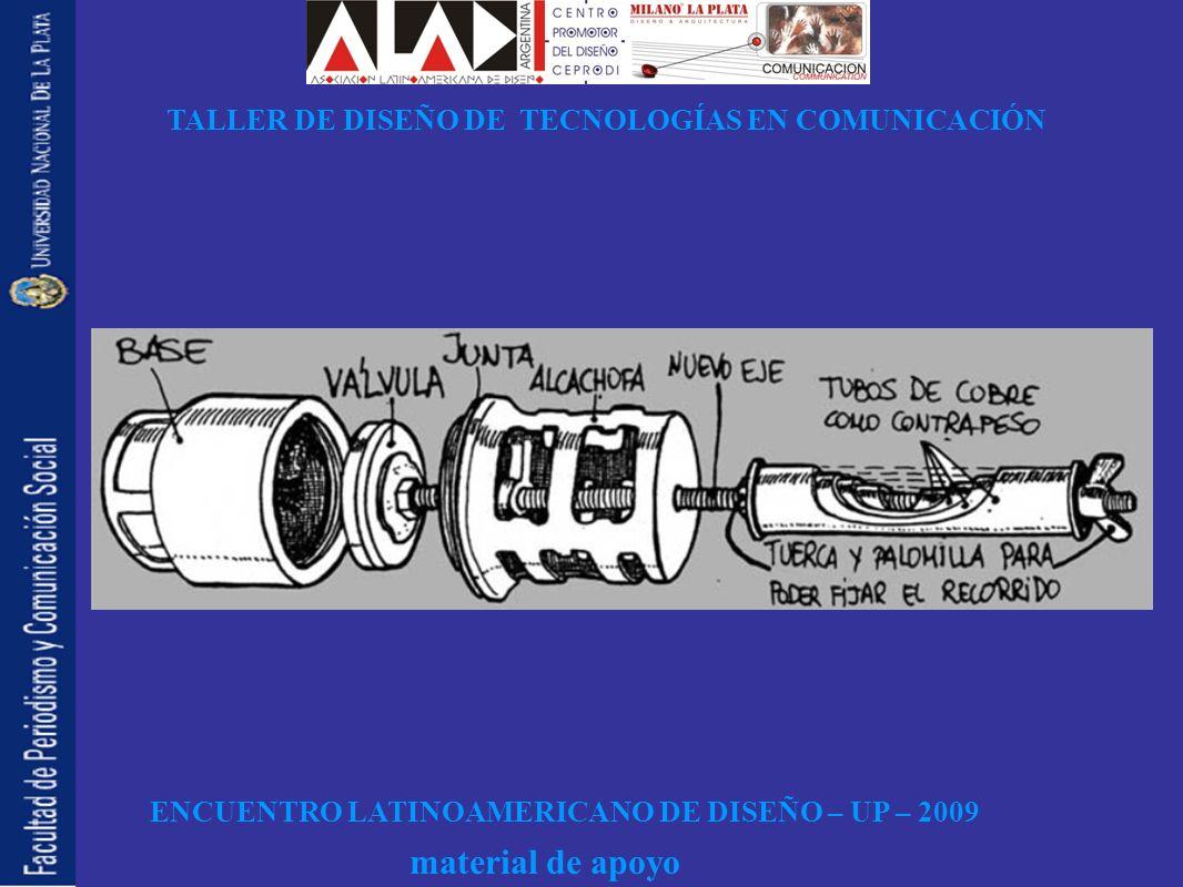 ENCUENTRO LATINOAMERICANO DE DISEÑO – UP – 2009 TALLER DE DISEÑO DE TECNOLOGÍAS EN COMUNICACIÓN material de apoyo INNOVACI Ó N, CAOS Y PARADIGMA DE LO FLU Í DO INVENTAR DISPOSITIVOS: BOMBA DE ARIETE, PIST Ó N HIDR Á ULICO, FLOTADOR, TURBINA EN CAVIDAD RESONANTE, TURBINA EN CIRCULACI Ó N DE OPINI Ó N, PENDULO, FLOTADOR NAVEGAR EN LOS R Á PIDOS, DESPLEGAR VELAS Y ASPAS DE MOLINOS A LOS VIENTOS FAVORABLES, Á LABE DE TIM Ó N, VELA.