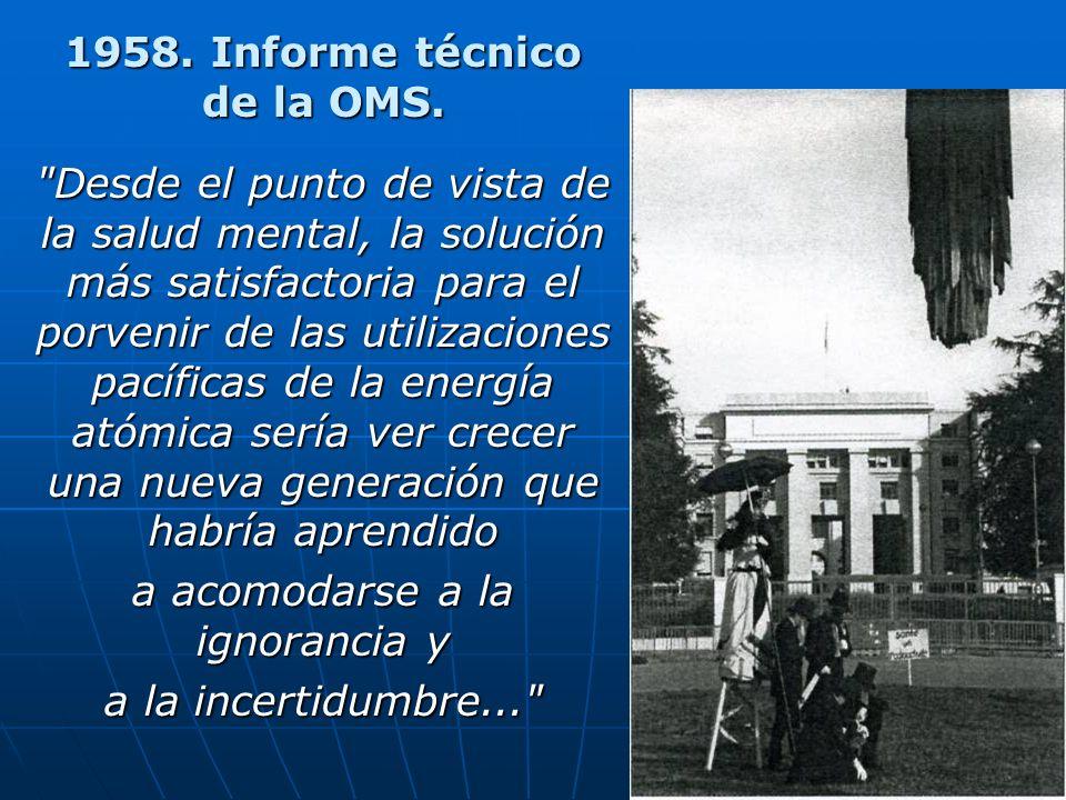 1958.Informe técnico de la OMS.