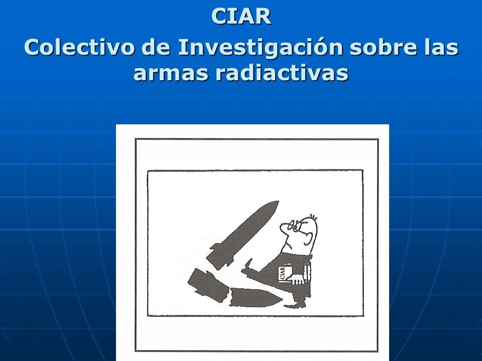 CIAR Colectivo de Investigación sobre las armas radiactivas