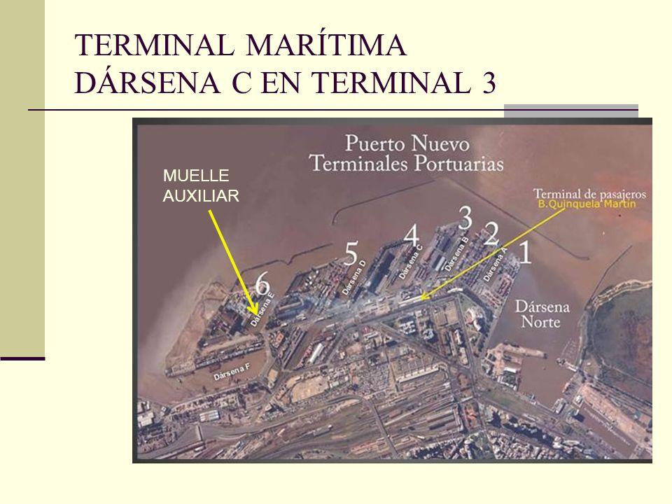 TERMINAL MARÍTIMA DÁRSENA C EN TERMINAL 3 MUELLE AUXILIAR