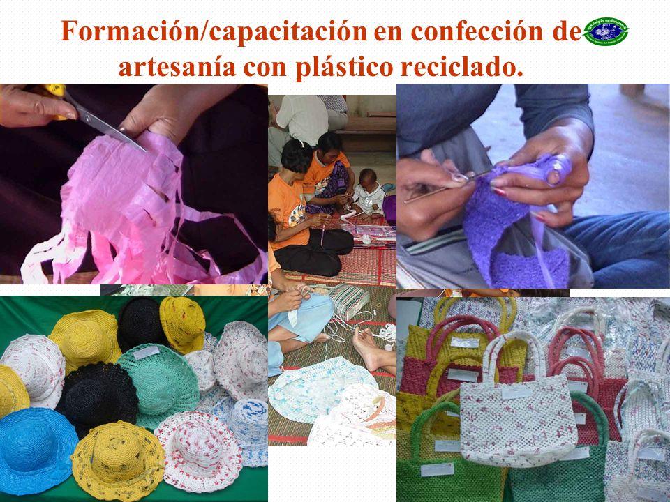16 Formación/capacitación en confección de artesanía con plástico reciclado.