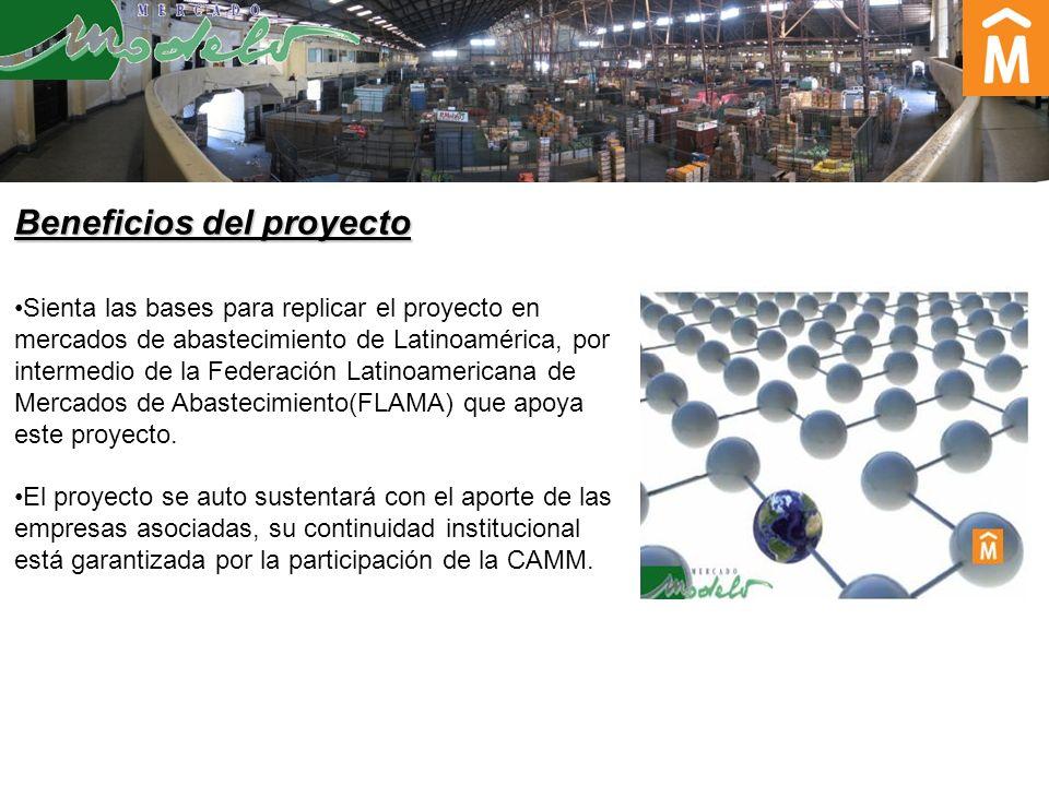 Sienta las bases para replicar el proyecto en mercados de abastecimiento de Latinoamérica, por intermedio de la Federación Latinoamericana de Mercados de Abastecimiento(FLAMA) que apoya este proyecto.