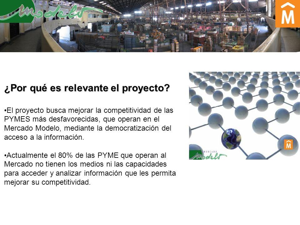 ¿Por qué es relevante el proyecto? El proyecto busca mejorar la competitividad de las PYMES más desfavorecidas, que operan en el Mercado Modelo, media