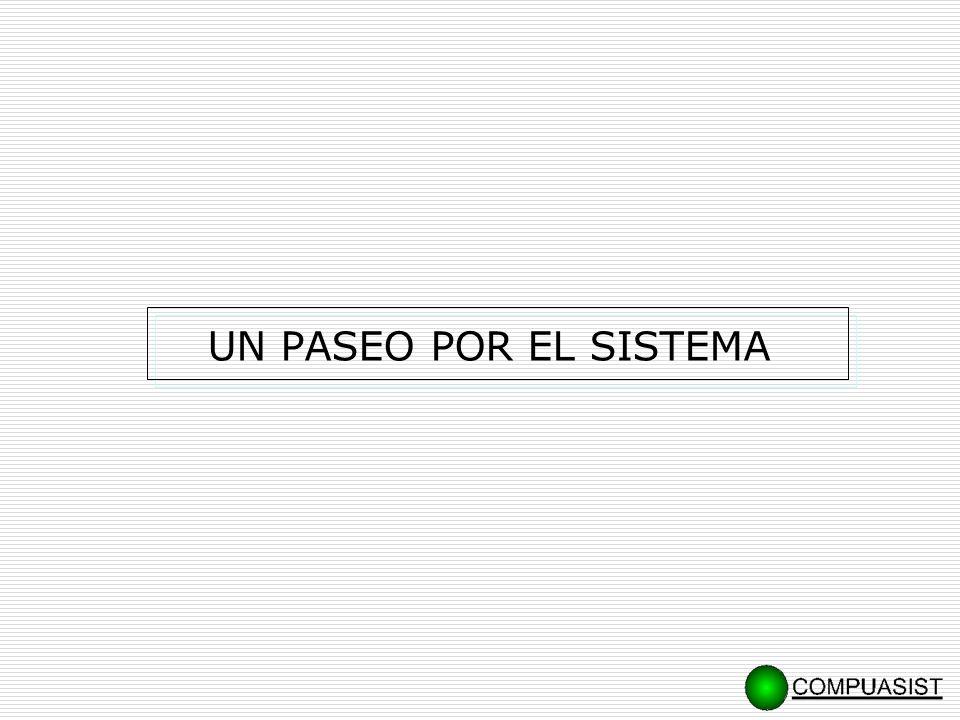 … Un paseo por el sistema. CONTROL DE ACCESO A USUARIOS MENU Y BARRA DE HERRAMIENTAS