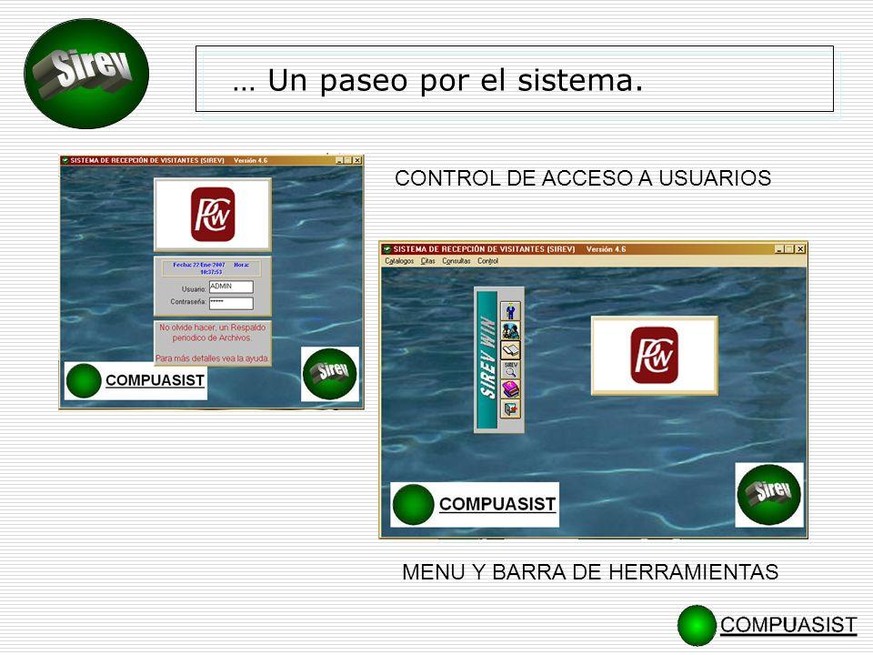 Registro y control de Asistencia de Empleados y colaboradores (Módulo opcional) Opera simultáneamente al control de visitas.