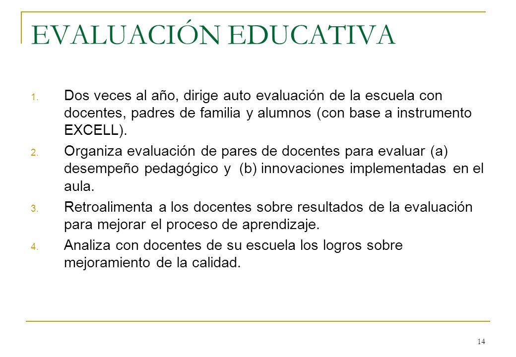14 EVALUACIÓN EDUCATIVA 1.