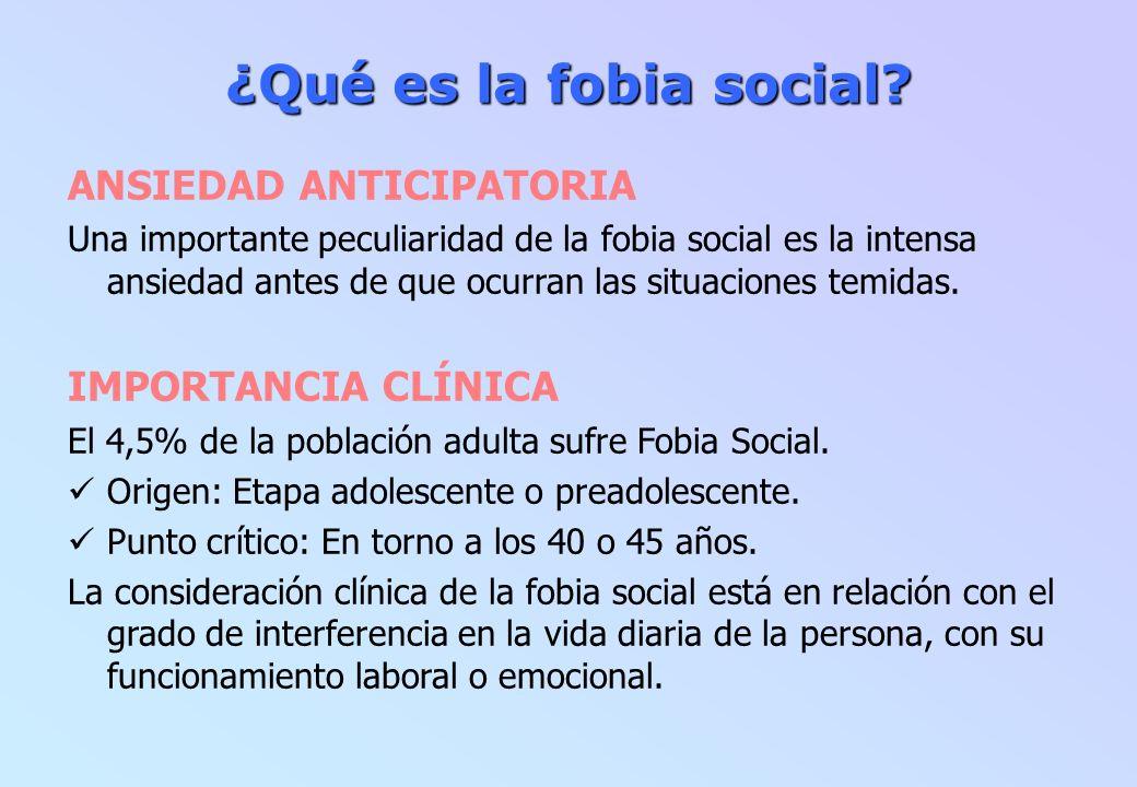 Fobia social: Plan terapéutico Fobia social: Plan terapéutico OBJETIVOS: Modificar las interpretaciones y valoraciones negativas y, en general, los pensamientos negativos.