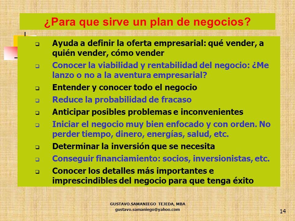 14 Ayuda a definir la oferta empresarial: qué vender, a quién vender, cómo vender Conocer la viabilidad y rentabilidad del negocio: ¿Me lanzo o no a l