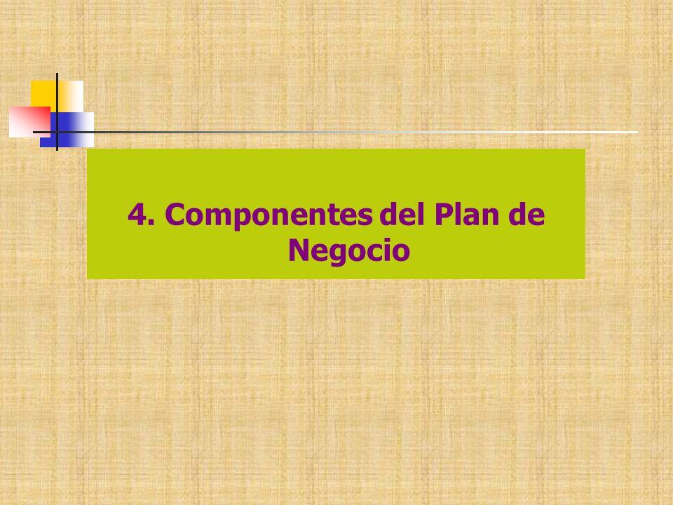 4. Componentes del Plan de Negocio
