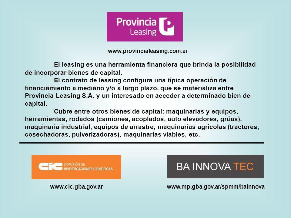 www.provincialeasing.com.ar El leasing es una herramienta financiera que brinda la posibilidad de incorporar bienes de capital.