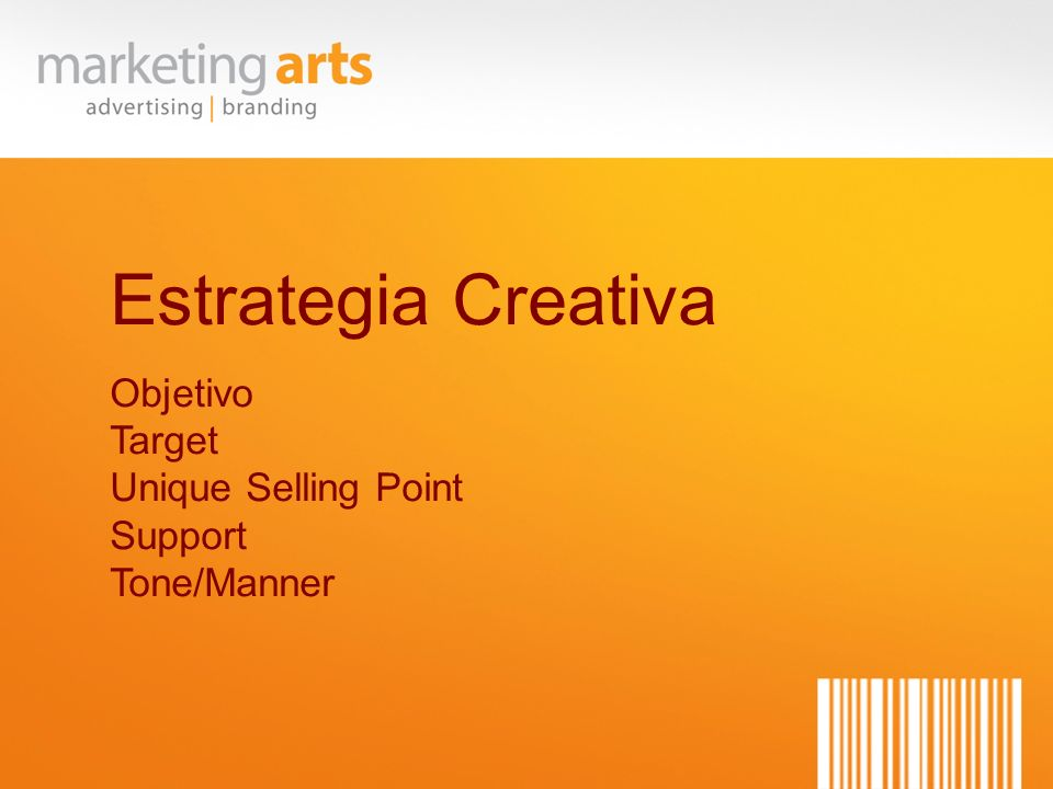 Estrategia Creativa Objetivo Target Unique Selling Point Support Tone/Manner