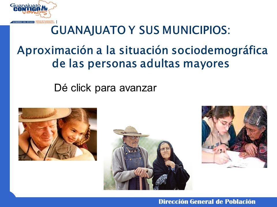 MUNICIPIO: SALVATIERRA Estructura Territorial * Población Total:92,411 * Hombres:46.4% * Mujeres:53.6% * Urbano:62,362 * Rural:30,049 * Población adulta mayor:12,151 * Grado de envejecimiento:13.1% * Relación de dependencia:23.2 *** Grado de intensidad migratoria:Alto Estructura Familiar * Total de Hogares:22,944 ** Hogares con ingresos de más de 1 s.m.