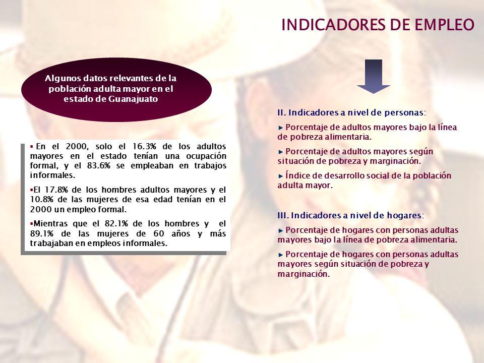 INDICADORES DE EMPLEO II.