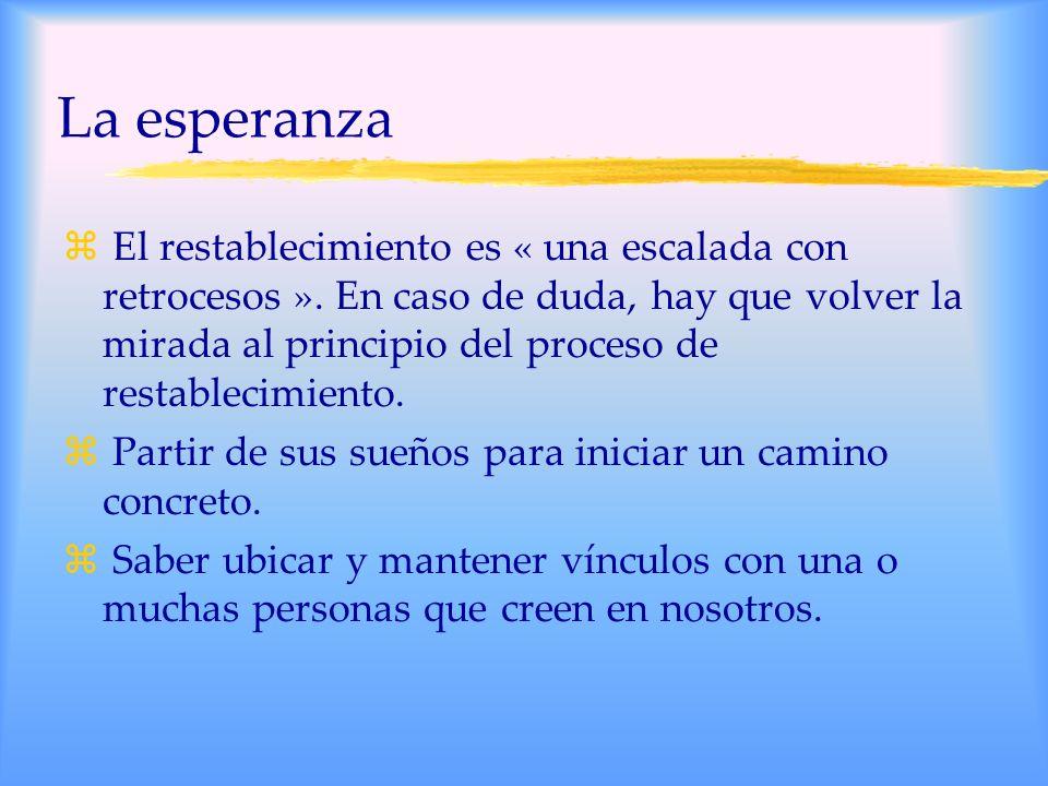 La esperanza z El restablecimiento es « una escalada con retrocesos ».