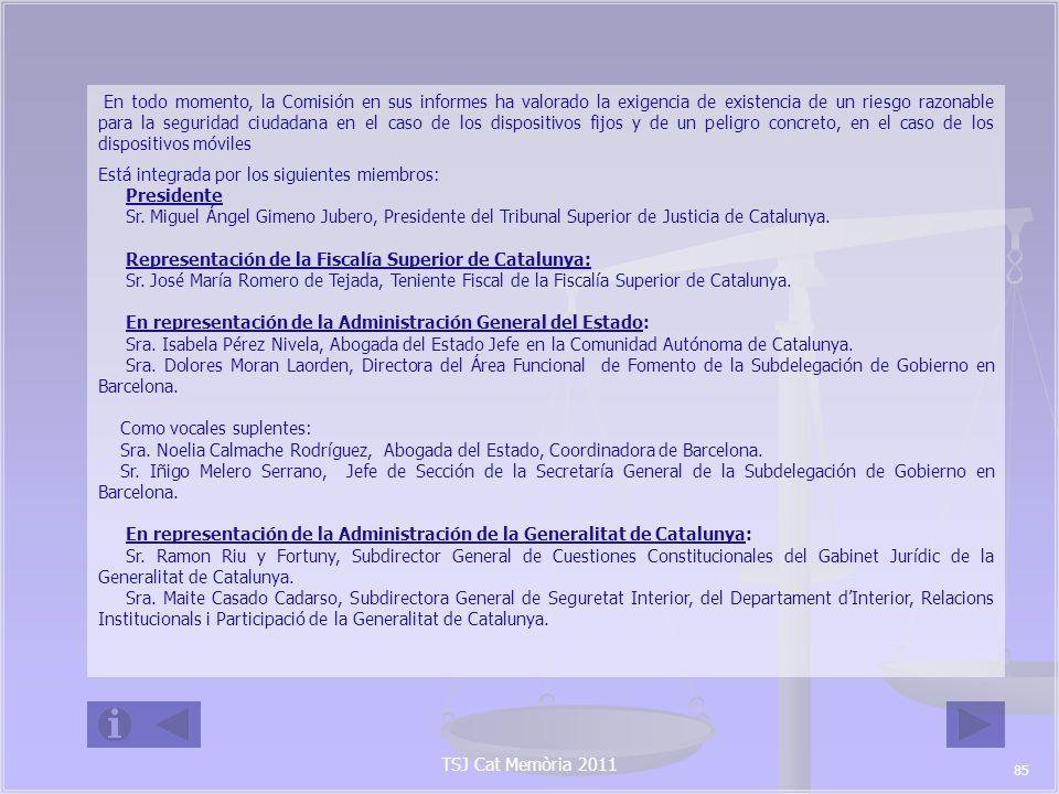 TSJ Cat Memòria 2011 Como vocales suplentes: Sra.