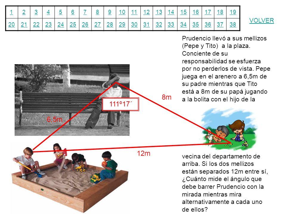 12345678910111213141516171819 20212223242526272829303132333435363738 VOLVER Prudencio llevó a sus mellizos (Pepe y Tito) a la plaza. Conciente de su r