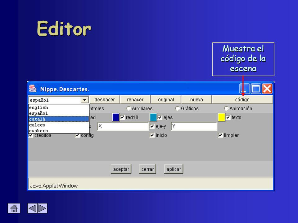 Editor Genera una escena vacía
