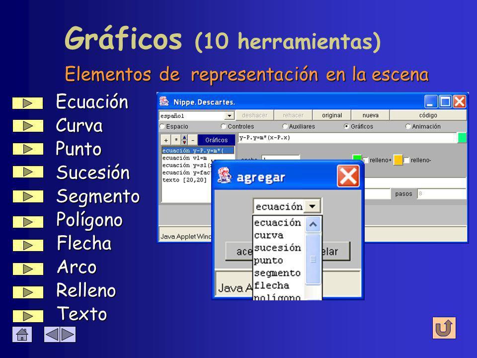 è Espacio è Controles è Auxiliares Panel è Gráficos è Animación