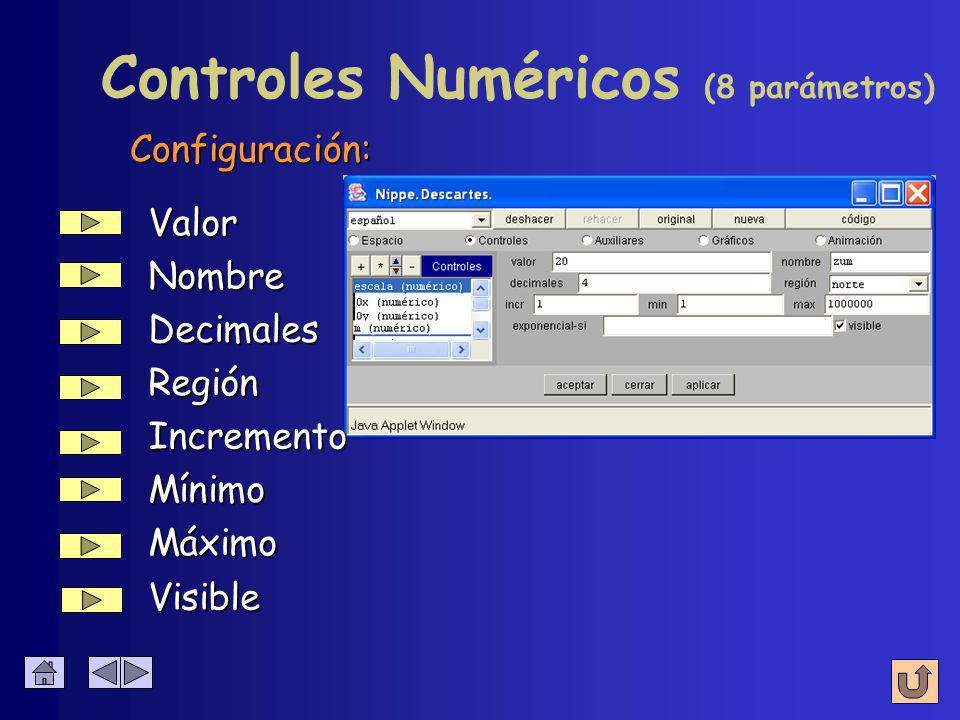 Toma un valor numérico que puede cambiar con los pulsadores Control Numérico