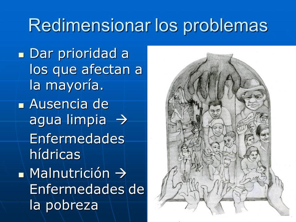 Redimensionar los problemas: Prioridad a la investigación cuyo objetivo es la mejora de la salud de la mayoría.