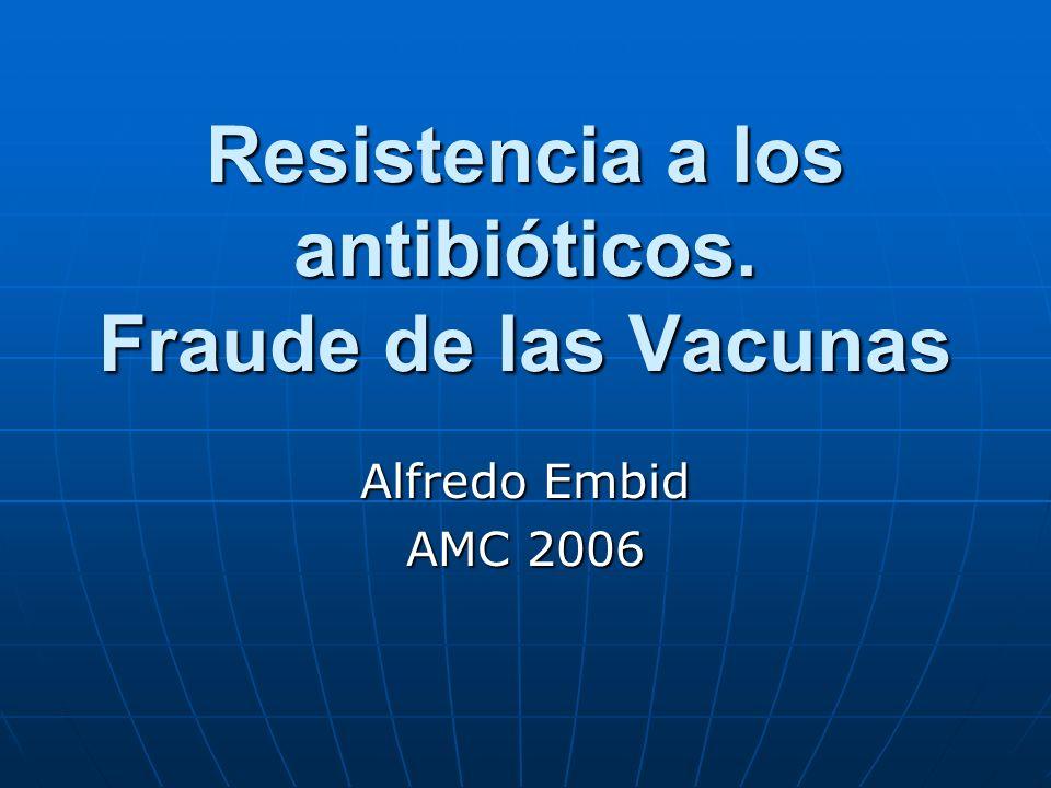 Los engaños de las epidemias Síntesis crítica desde comienzos del siglo XX. Alfredo Embid