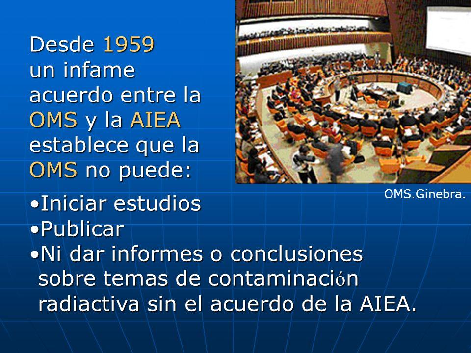 1957: Fundación de la Agencia Internacional de Energía Atómica (AIEA) como extensión del lobby nuclear militar  industrial.