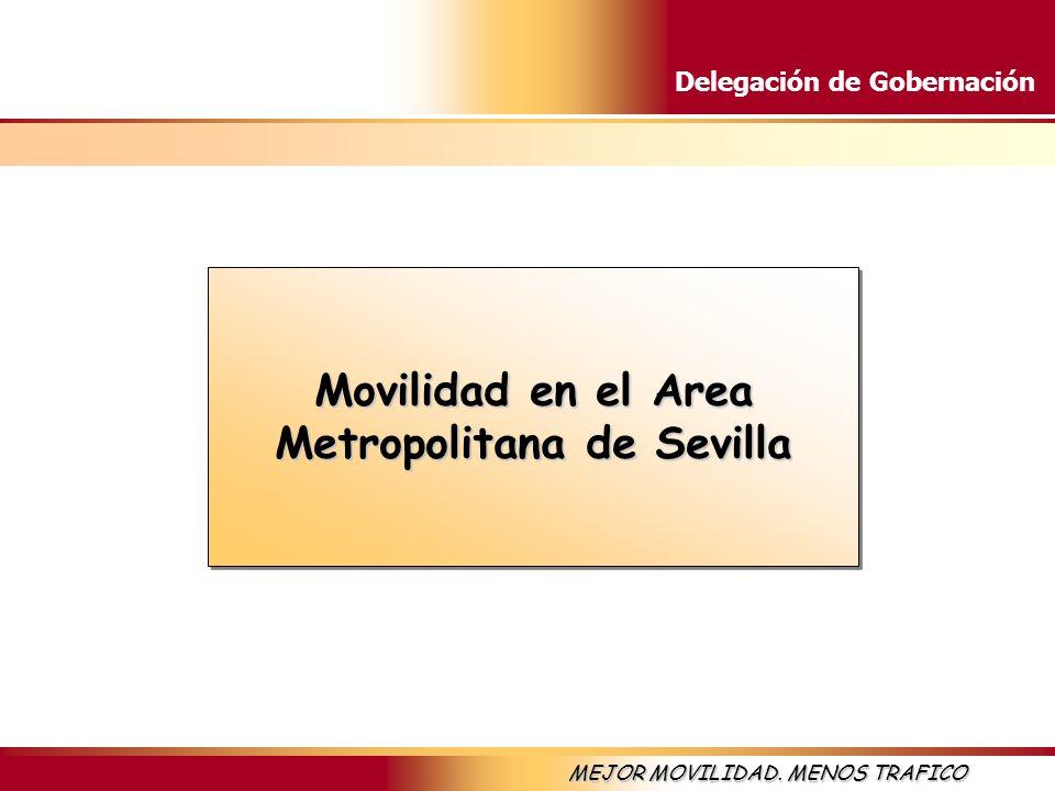 Delegación de Gobernación MEJOR MOVILIDAD. MENOS TRAFICO Movilidad en el Area Metropolitana de Sevilla