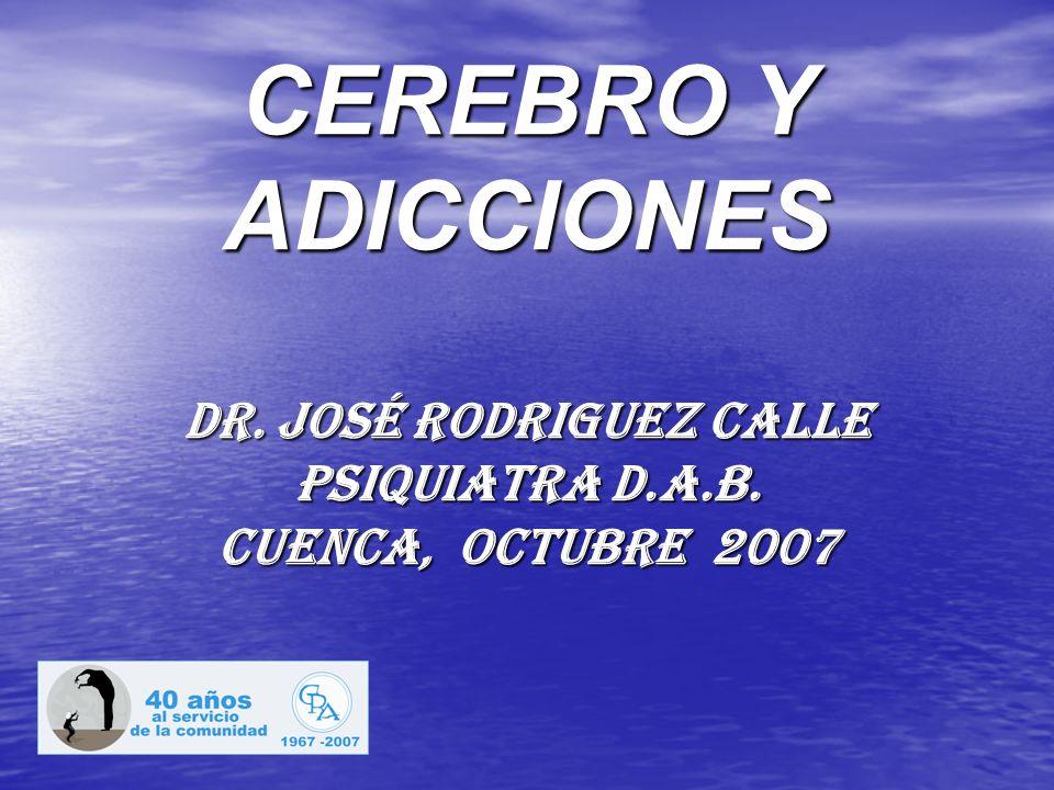 CEREBRO Y ADICCIONES dr. José Rodriguez calle psiquiatra D.A.B. Cuenca, octubre 2007