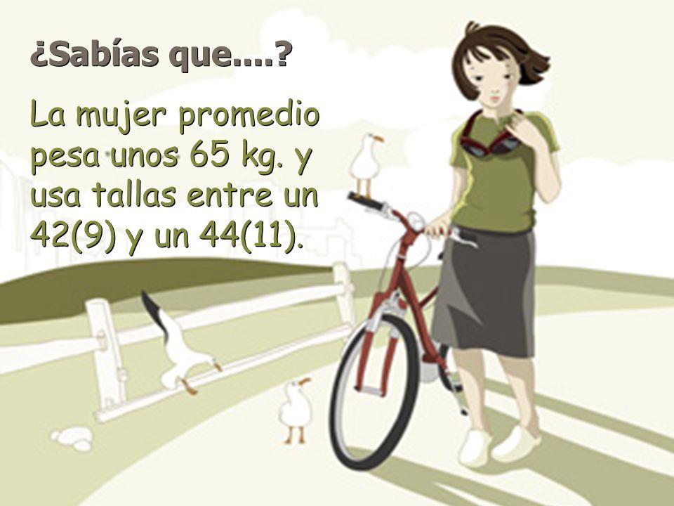 ¿Sabías que.....La mujer promedio pesa unos 65 kg.