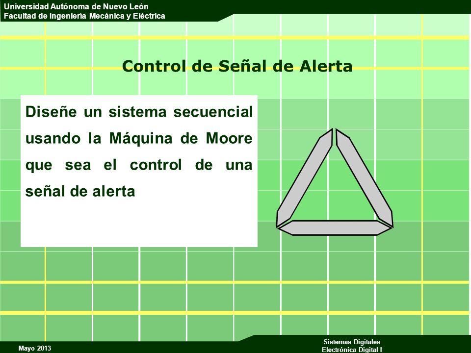 Mayo 2013 Sistemas Digitales Electrónica Digital I Universidad Autónoma de Nuevo León Facultad de Ingeniería Mecánica y Eléctrica Control de Señal de