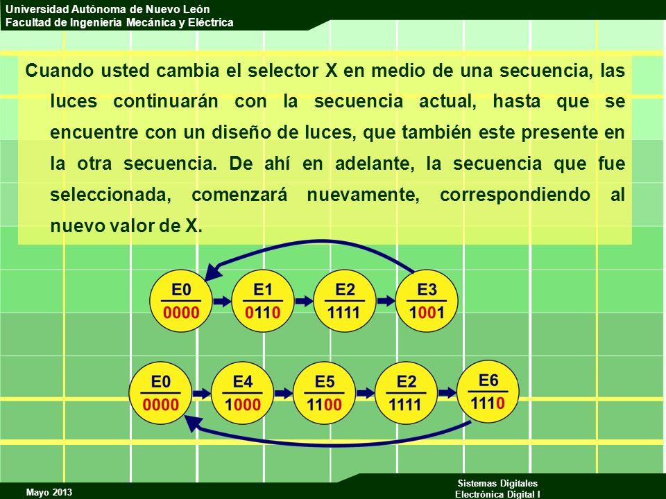 Mayo 2013 Sistemas Digitales Electrónica Digital I Universidad Autónoma de Nuevo León Facultad de Ingeniería Mecánica y Eléctrica Cuando usted cambia