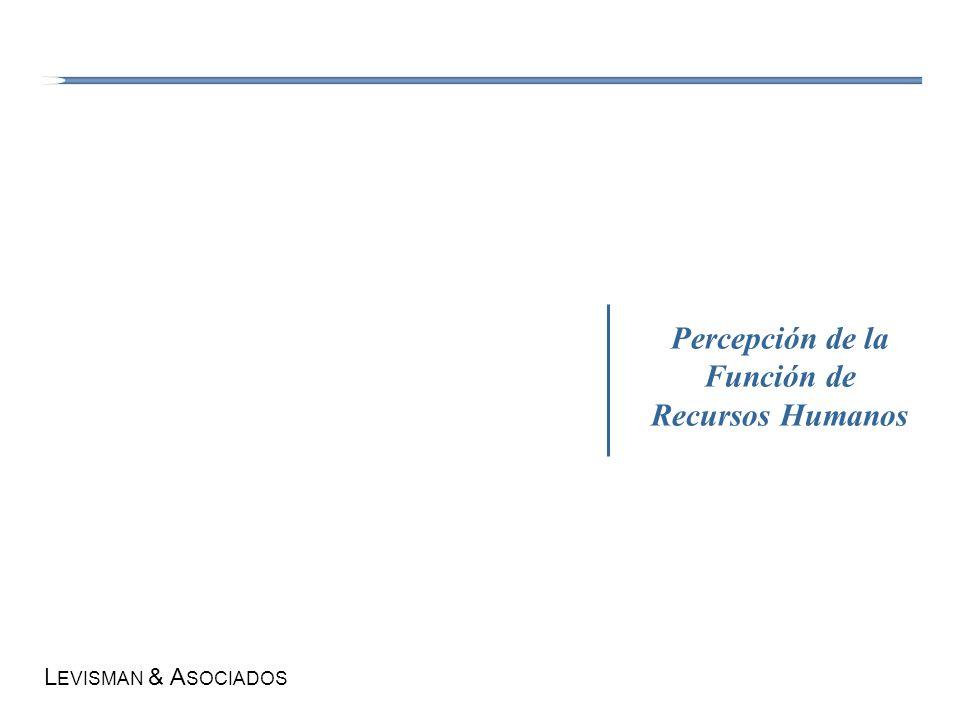 L EVISMAN & A SOCIADOS Percepción de la Función de Recursos Humanos