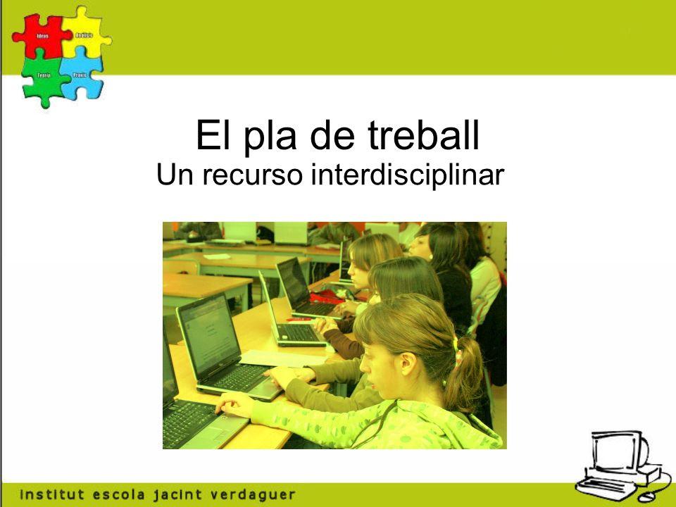El pla de treball Un recurso interdisciplinar