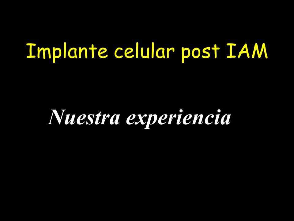 Implante celular post IAM Nuestra experiencia