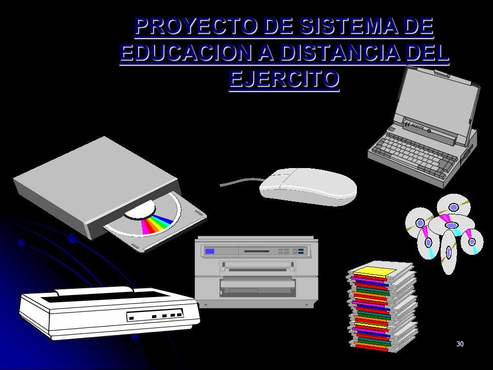 30 PROYECTO DE SISTEMA DE EDUCACION A DISTANCIA DEL EJERCITO