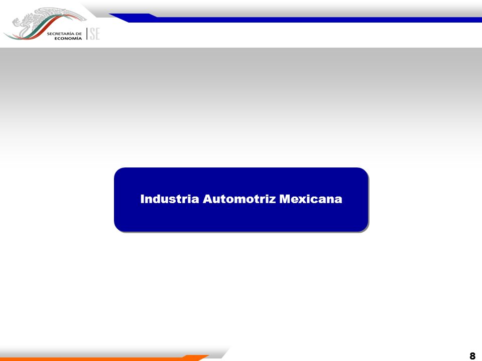 19 CompanyProject Investment (Millions dollar)* New Jobs New world-class vehicle4502,500 American Axle & Manufacturing Silao Facility extension 4001,200 Jatco expansion for transmissions production300700 Kenworth expansion and modernization of Mexicali Assembly Plant 70600 Aassembly plant, it is expected to more than double the current production of pickups.