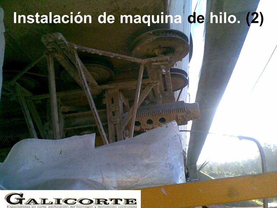 Instalación de maquina de hilo. (2)