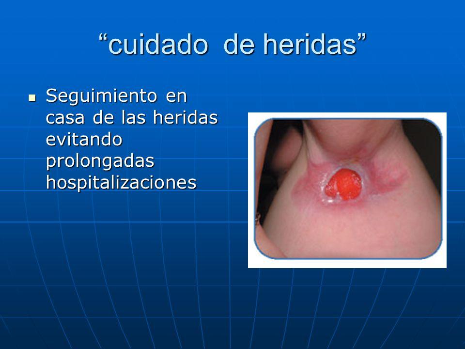 cuidado de heridas Seguimiento en casa de las heridas evitando prolongadas hospitalizaciones Seguimiento en casa de las heridas evitando prolongadas h