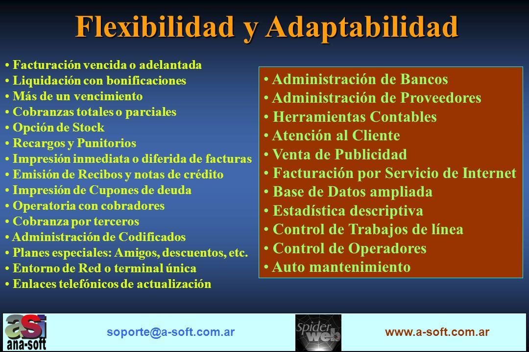 Flexibilidad y Adaptabilidad Claridad Seguridad Configurable 100% Configurable 100% Multifunción soporte@a-soft.com.ar www.a-soft.com.ar