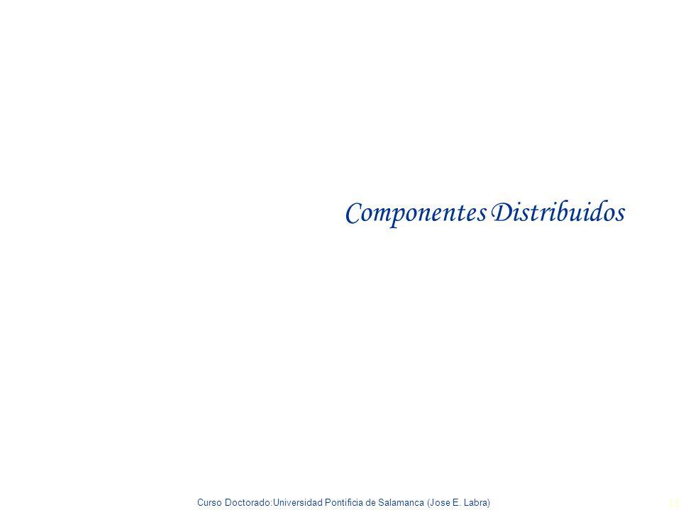 Curso Doctorado:Universidad Pontificia de Salamanca (Jose E. Labra) 11 Componentes Distribuidos