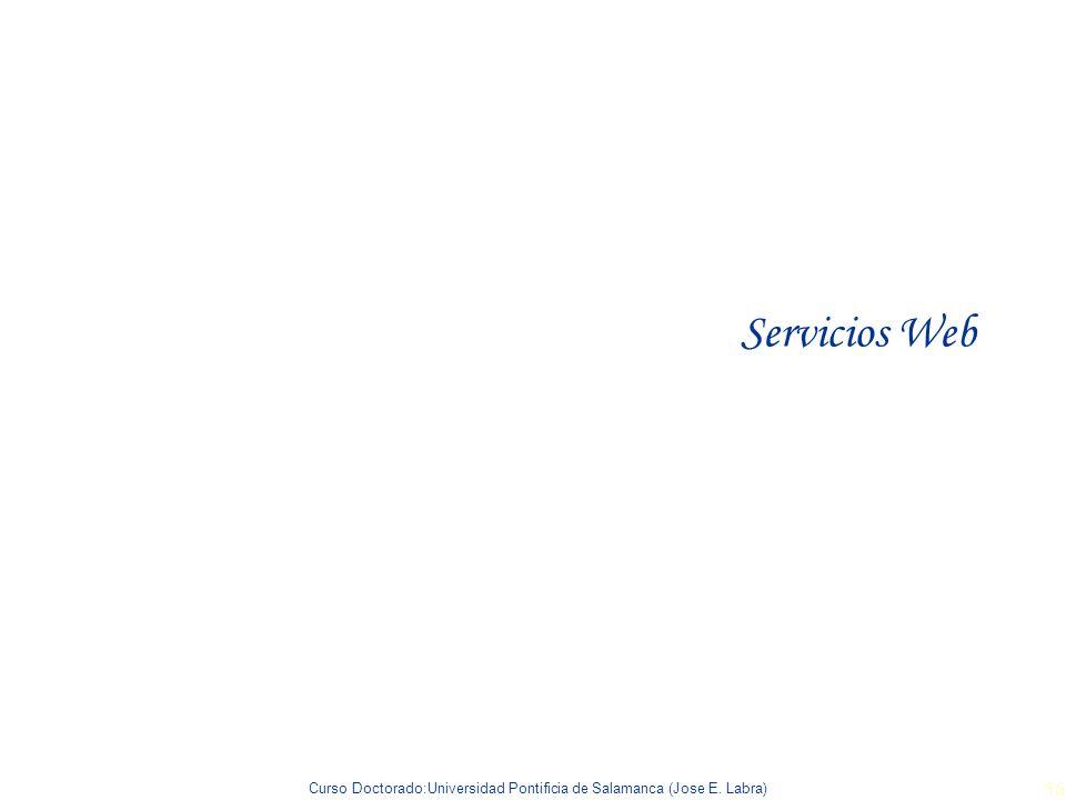 Curso Doctorado:Universidad Pontificia de Salamanca (Jose E. Labra) 56 Servicios Web