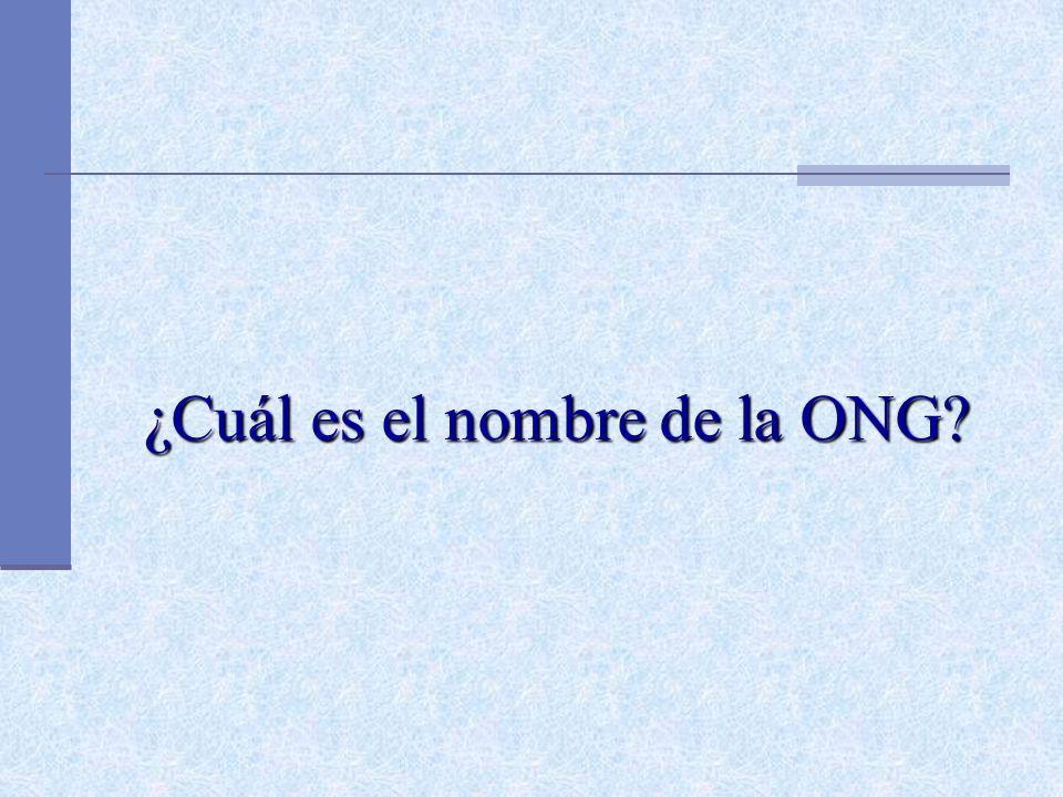 ¿Cuál es el nombre de la ONG