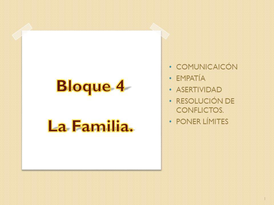 1 COMUNICAICÓN EMPATÍA ASERTIVIDAD RESOLUCIÓN DE CONFLICTOS. PONER LÍMITES