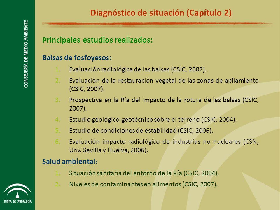 Balsas de fosfoyesos: 1.Evaluación radiológica de las balsas (CSIC, 2007).
